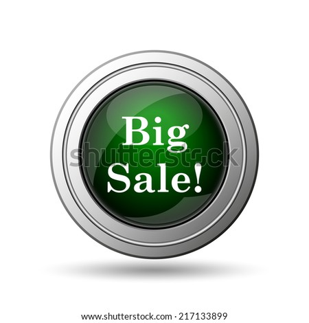 Big sale icon. Internet button on white background.  - stock photo