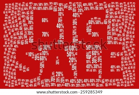 Big Sale in word collage - stock photo