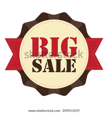 Big Sale on Brown Vintage Badge, Icon , Sticker Isolated on White