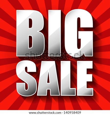 Big Sale poster. - stock photo