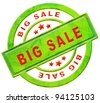 big sale sell online at web shop for low price or bargain special offer massive reduction icon or stamp in red text isolated on white - stock photo
