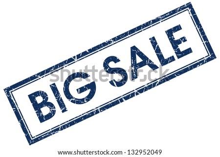big sale stamp - stock photo