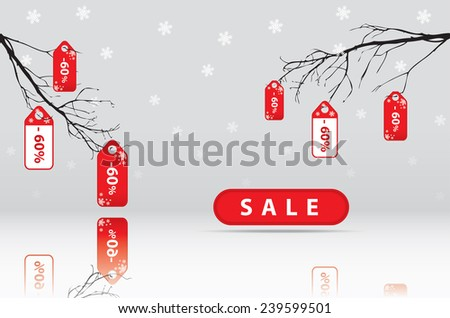Big sale, sticker and banners, promotion background - stock photo