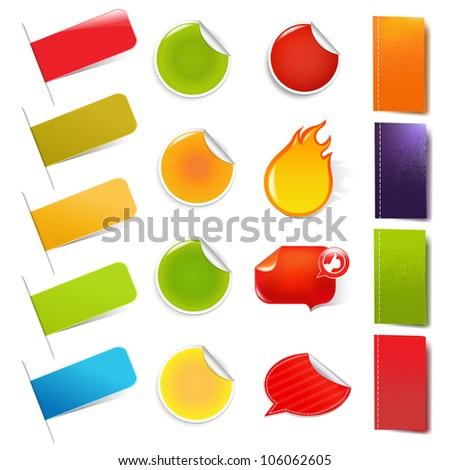 Big Sale Stickers And Labels, Isolated On White Background - stock photo