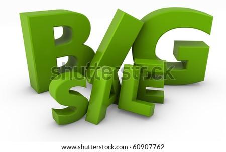 big sale text - stock photo