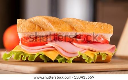 big sandwich - stock photo