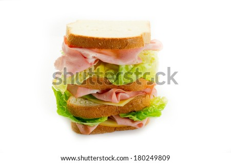 big sandwich - stock photo
