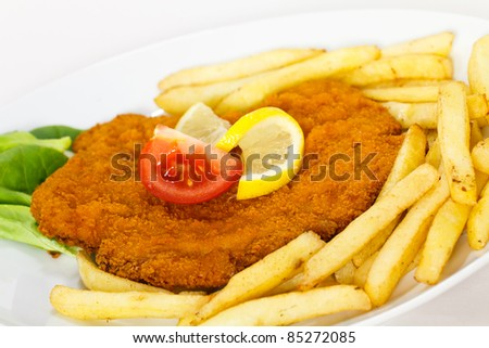 Big Schnitzel-Escalope - stock photo
