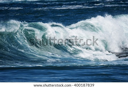 big sea wave - stock photo