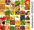 Big set of a variegated foodstuffs - stock photo