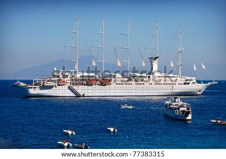 big ship in the sea - stock photo