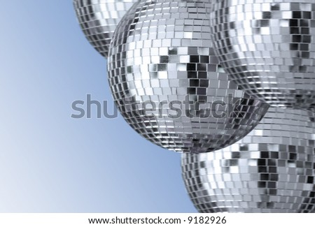 big silver disco ball