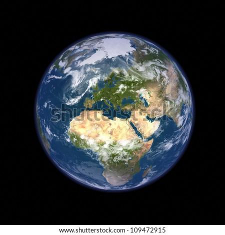 Big size Earth planet illustration - stock photo