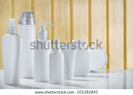 big skincare composition - stock photo