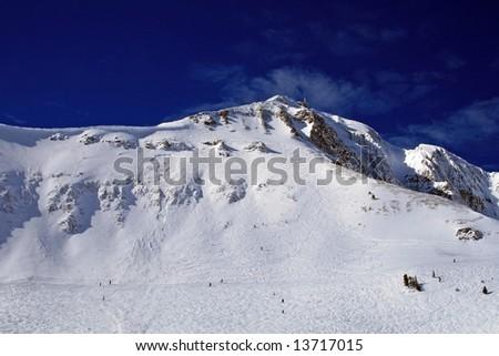 Big Sky Gullies - stock photo