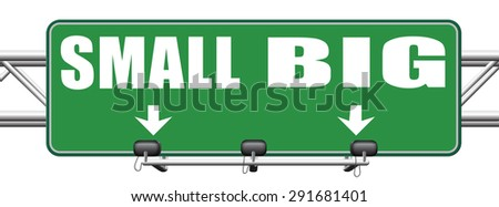big small size matters no deal or issue  - stock photo