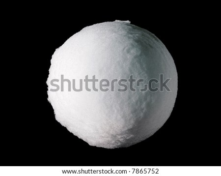 Big Snowball or Snow Globe (Isolated on totally dark background) – An icon or a symbol can be easily incorporated in many designs. - stock photo