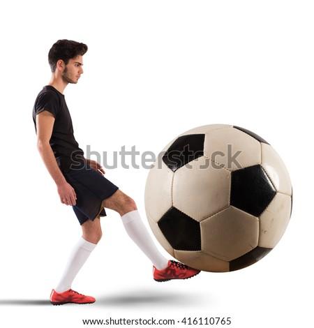 Big soccerball - stock photo