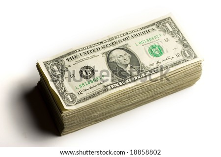 big stack of cash money - stock photo
