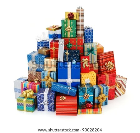 Stack Of Christmas Gifts Stock Images, Royalty-Free Images ...