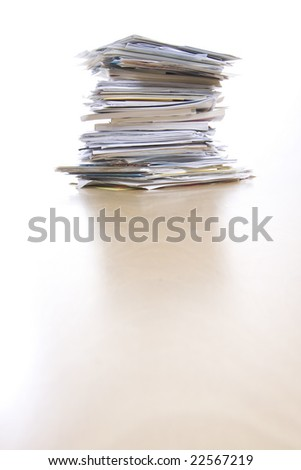 big stack of papers (documents) - stock photo