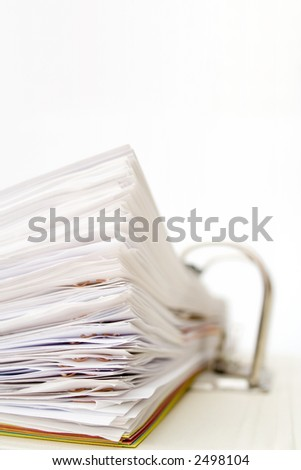Big Stack of papers in folder