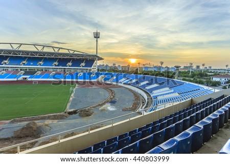 Big stadium at Hanoi, Vietnam - stock photo