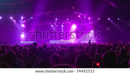big stage concert - stock photo