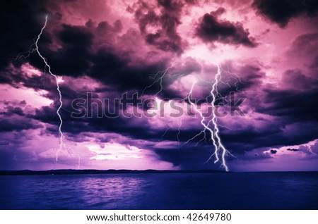 big storm - stock photo