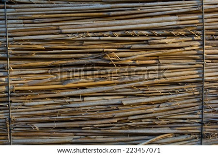Big straw background