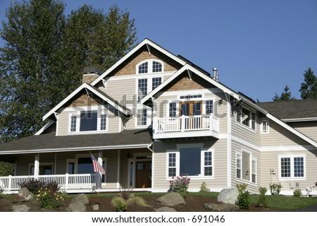 Big Suburban House - stock photo
