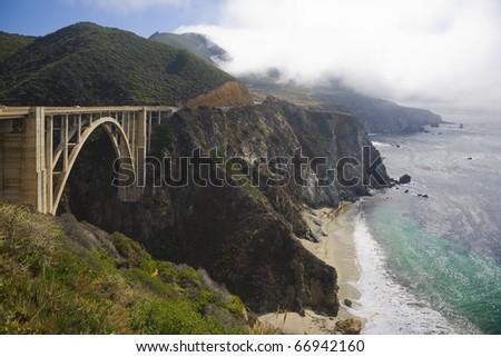 Big Sur, at California coast - stock photo