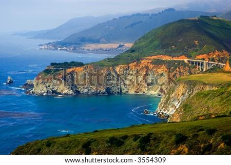 Big Sur California Coast - stock photo