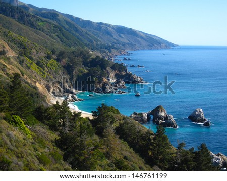 Big Sur Coast, California, USA - stock photo