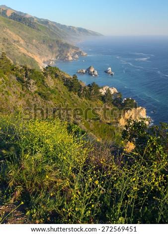 Big Sur Coast, Central California, USA - stock photo