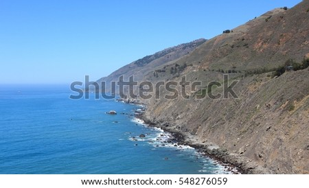 Big Sur coast in California, United States - Ragged Point.