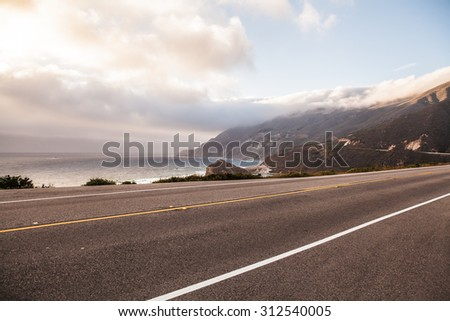 Big Sur (Highway One) - stock photo