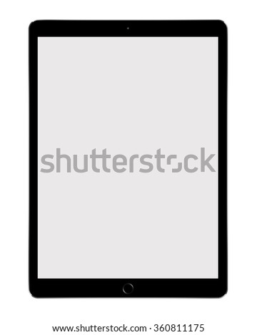 Big Tablet PC isolated on white background - stock photo
