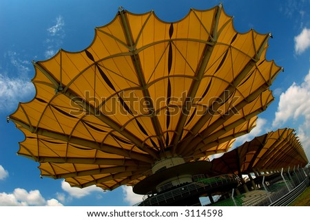 big umbrella - stock photo