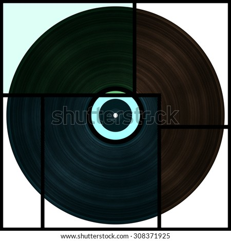 Big vinyl record collage