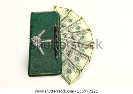 Big wallet with dollars