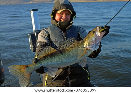 Walleye fishing stock images royalty free images for Walleye fishing pole