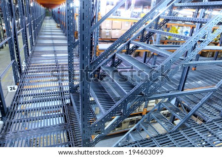 Big warehouse  - stock photo