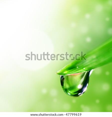 big water drop - stock photo