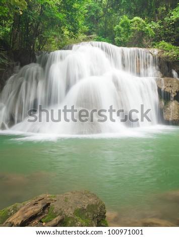 Big waterfall - stock photo