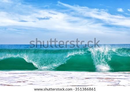 Big wave in ocean - stock photo