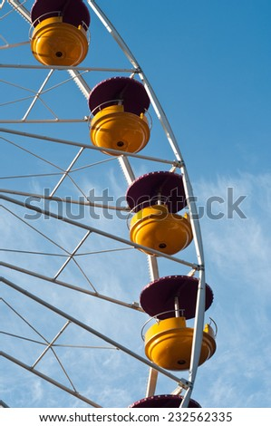 big whell attraction  - stock photo