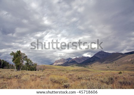 Big Wood Valley - stock photo