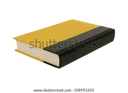 Big yellow book isolated on white - stock photo