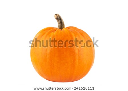 Big yellow pumpkin on a white background